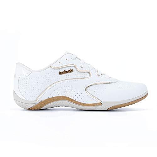 Tênis Kolosh Casual Feminino Branco/Dourado 38