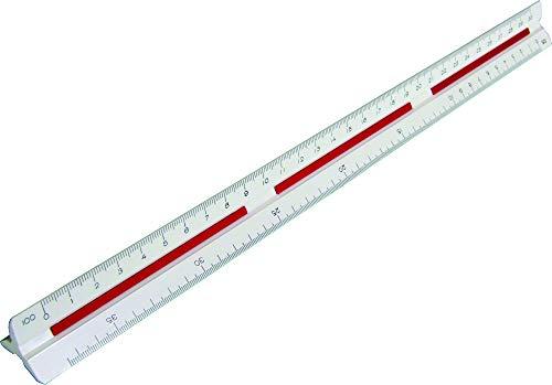 Escalímetro Triangular, Trident, 7830/1, Branco, 30 cm