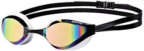Óculos de natação ARENA Python para homens e mulheres, Copper/White, lentes espelhadas