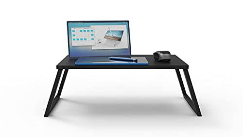 Mesa Potátil Multiuso Notebook MacBook refeições na cama ou sofá - ibi Acessórios (Preta)