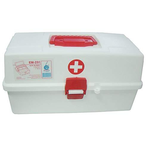 Maleta Plastica 2 Bandejas Para medicamento Kit de Primeiro Socorros