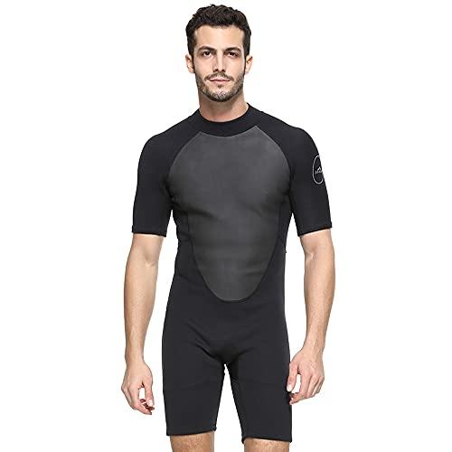 Giantree Roupa de mergulho masculina curta, roupa de mergulho de corpo inteiro para mergulho, surfe, natação, roupa de mergulho térmica de neoprene para adultos