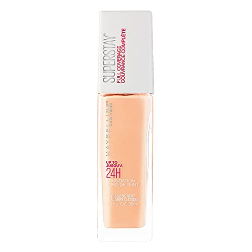 Base facial de alta cobertura Superstay Full Coverage, Classic Ivory - 30ml, Maybelline, Classic Ivory, 30ml