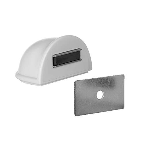Batedor Para Porta Magnético - Autoadesivo Bemfixa Branco