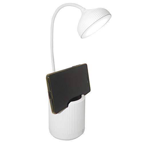Luminaria de Mesa Abajur Touch Screen LED Flexivel Recarregavel Suporte Celular Articulada Lampada Iluminaçao