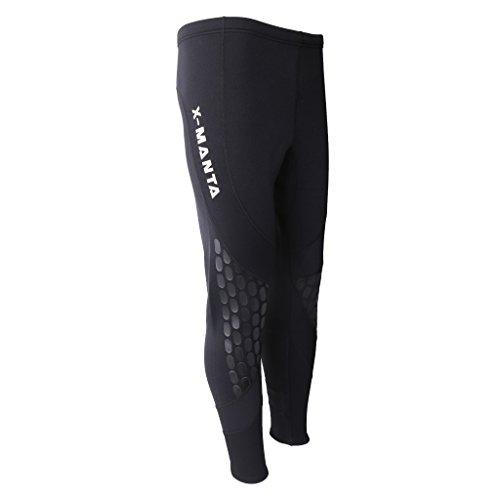 Tachiuwa Calça Wetsuits de neoprene 1,5 mm para natação, canoagem, surf, calça M-2GG, preta - M