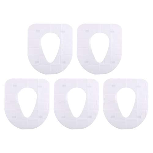 Cabilock 5Pcs Descartável Tampa de Assento Do Toalete Assento Do Vaso Sanitário de Viagem À Prova D' Água Protetor Tigela Mat Pad Crianças Potty Training WC Portátil Forros para O Bebê Mãe