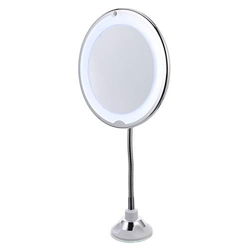 Lurrose Rotação de 360 ??Graus Espelho de Maquiagem Com Luz LED Flexível 10X Espelho de Aumento de Maquiagem Espelho de Maquiagem Iluminado Com Ventosa Forte para Viagens E Espelho de