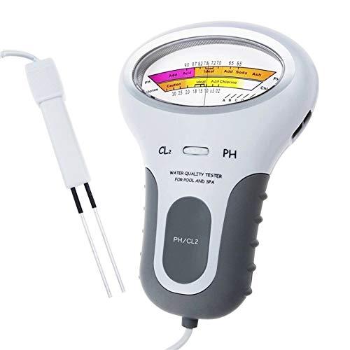 Anself 2 em 1 Medidor de Cloro PH Testador PC-102 PH Testador de Cloro Dispositivo de Teste de Qualidade da Água CL2 Medição Para Piscina Aquário