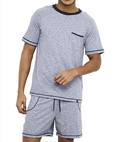 Pijama Lupo AM Curto masculino Azul M