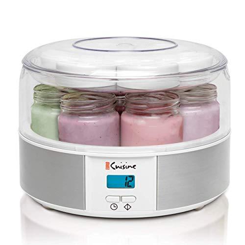 Máquina de Iogurte AUTOMÁTICA com 7 copos de vidro de 18ml - Timer de 15 horas e painel LCD - Prática e fácil de usar com timer