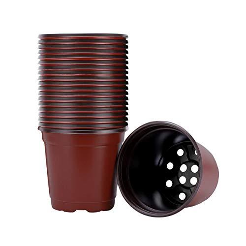 Angoily Vasos de Plástico Com 40 Unidades de Plantas para Plantio de Vasos de Flores Recipiente de Plantas de Flores de 9 Cm Começando Em Vaso (9 Cm)