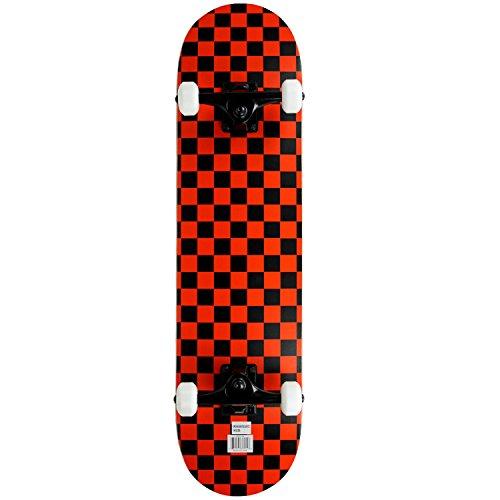 Krown Skate Rookie Checker, preto/vermelho, 19,7 cm