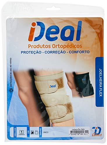 Ideal Produtos Ortopédicos, Joelheira Flex, Preto, Tamanho Único