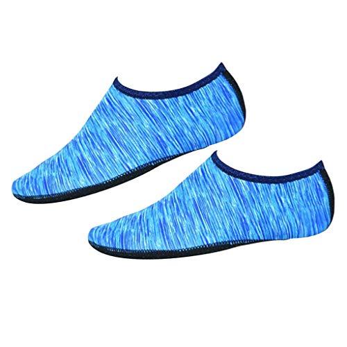 Sapatos De água Antiderrapante Praia Surf Aqua Meias Slip-On Yoga Exercício Barefoot Sock - Azul M