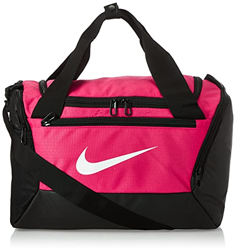 Bolsa esportiva Nike Brasilia PP – 9.0, Rosa/Preto/Branco, Diversas