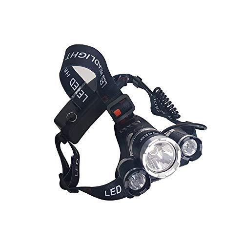 Lanterna de Cabeça Recarregável Profissional com 3 Leds - TM4019