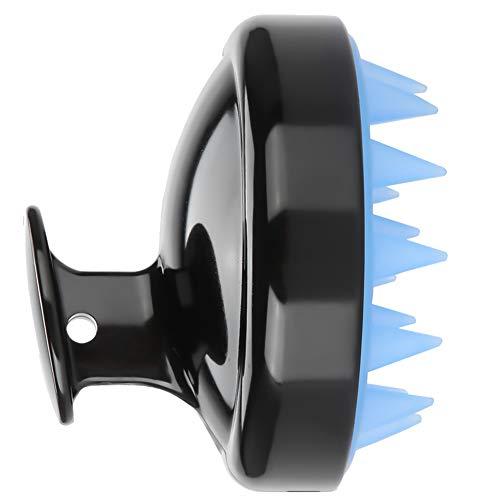Massageador de xampu com escova massageadora, escova de xampu, esfregador de couro cabeludo portátil de silicone e ABS para massageador de banho de chuveiro (preto)…