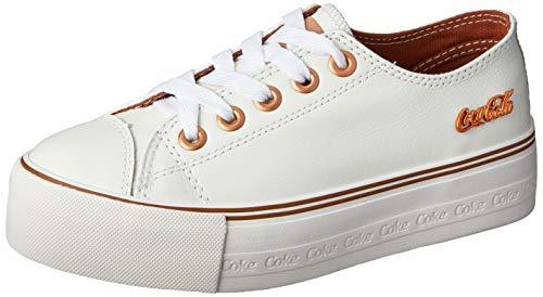 Tênis Coca-Cola Shoes, Atlanta Plataforma LT, feminino, Branco/Cobre, 35