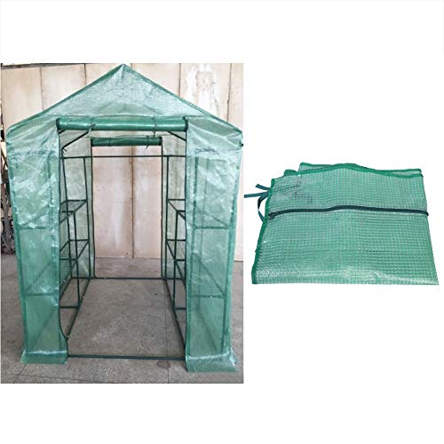 Asixx Casa de jardim, mini estufa, cobertura de estufa, plástico, portátil, jardim, estufa, quente, estufa para plantas de flores, 2 tamanhos (14373195 cm)