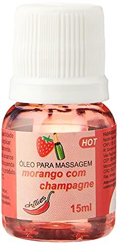 Kit Com 4 Gel De Massagem Óleo Lubrificante Beijável Morango com Champagne Aquece Hot Esquenta Comestível