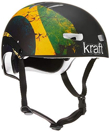 Capacete Kraft Bandeira Brasil Skate / Patinete / Scooter Elétrica