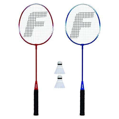 Franklin Sports Conjunto de reposição para raquete de badminton de 2 jogadores, tamanho único, vermelho, branco, azul (52623X)