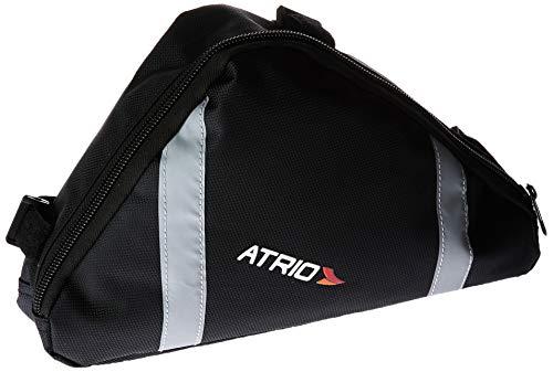 Bolsa de Selim de Quadrado para Bicicleta Capacidade de 1,2L Resistente à Água Material em em Poliéster e PVC Preto Atrio - BI094