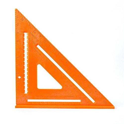 Esquadro de layout Speedlite composta Swanson Tool Co T0701, 30,5 cm, laranja, poliestireno de alto impacto