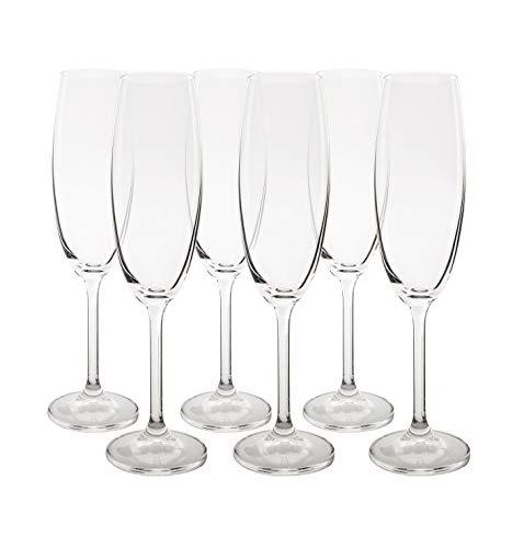 Jogo de Taças para Champagne Gastro, Bohemia, Incolor, 220ml, Pacote de 6
