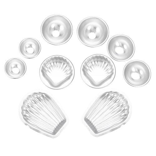 Moldes para bombas de banho, Moldes artesanais para fabricação de bombas de banho em liga de alumínio, Ferramentas para moldes de bolo DIY, Sabonetes para banho (1)
