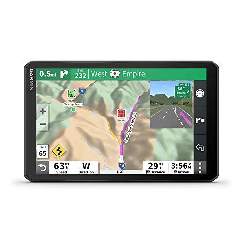 Garmin RV 890, Navegador GPS para trailers com tela de ponta a ponta de 8 polegadas, acampamentos pré-carregados, roteamento personalizado e mais