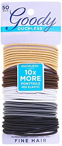 Elásticos Goody femininos Ouchless de 2 mm, neutros,, Neutral, 1-Pack