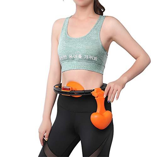 DMNSDD Smart Counting Hula Hoops, removível ajustável iniciantes cintura fina treinamento esportivo portátil argolas ioga perda de peso equipamento de fitness