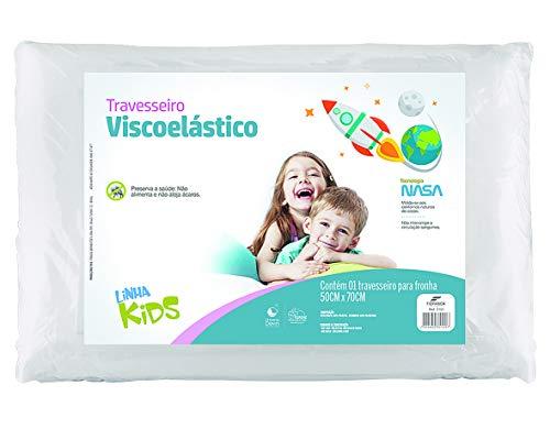 Travesseiro Nasa Kids, Viscoelástico, 50x70cm, Fibrasca