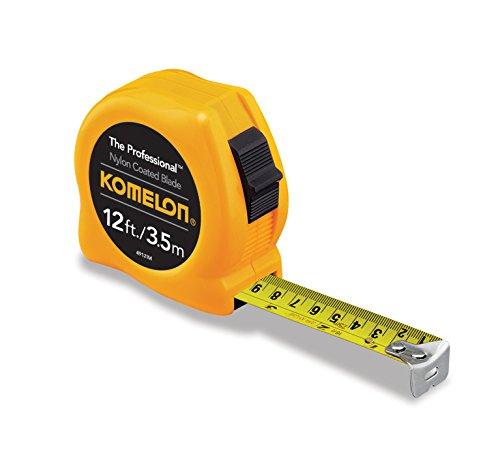 Komelon 4912IM The Professional Fita de alimentação com escala métrica de 3,8 m e 3,8 m, amarela, 4912IM, Amarelo, 12ft - Blade