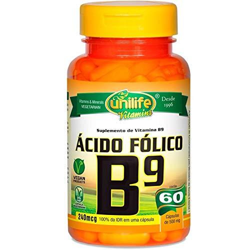 Ácido Fólico Vitamina B9 60 Cápsulas Rejuvenescedor Celular