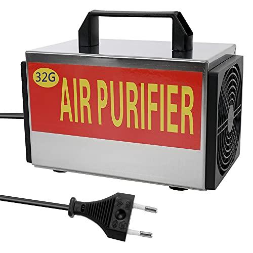 Purificador de ar, Tomshin 220V portátil ozônio 32g / h máquina gerador purificador de filtro de ar com interruptor de sincronismo ozonizador ozonizador para carro doméstico formaldeído