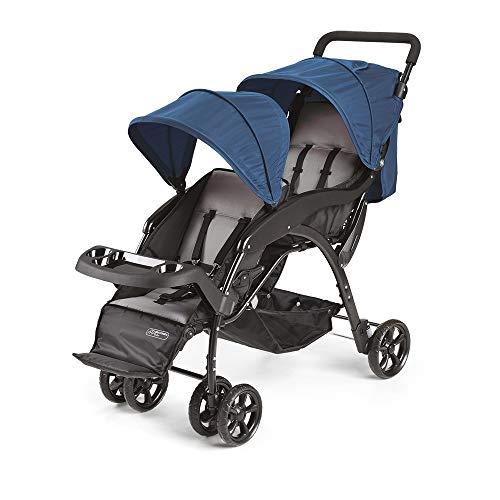 Carrinho de Passeio Para Gêmeos, Multikids Baby, Azul