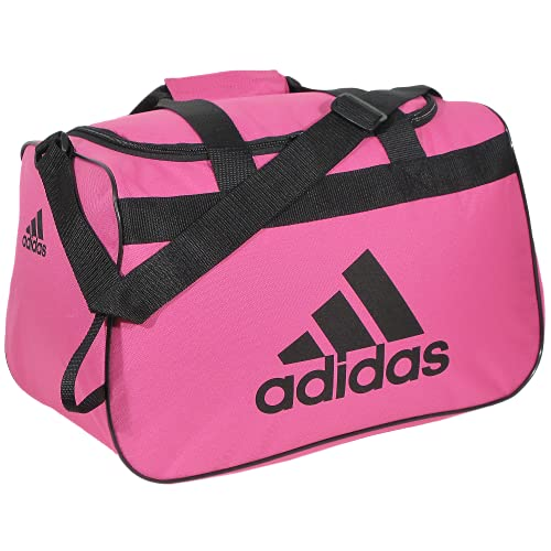 adidas Bolsa esportiva pequena Diablo unissex, rosa intenso/preto, tamanho único