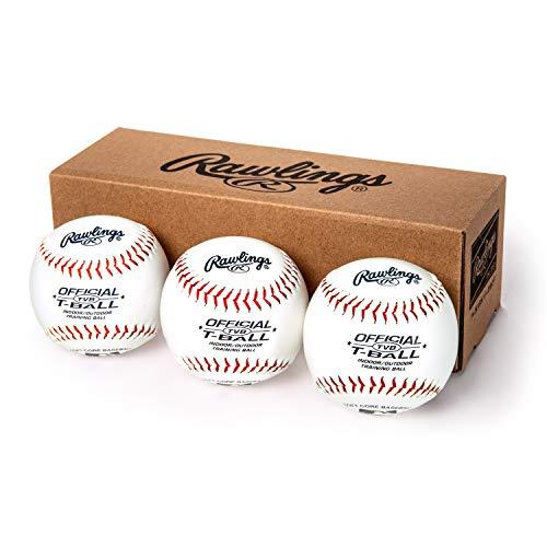 Bolas de beisebol juvenis ou treinamento Rawlings, caixa com 3 bolas de tball, TVBBOX3, branca, tamanho oficial