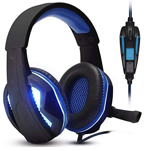 Headset Gamer KP-396 Pc Fone Ouvido + Adaptador Ps4 Celular Azul