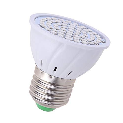 Uonlytech 2 peças de lâmpada LED para cultivo de plantas, soquete E27, 60 LEDs, luz de cultivo de espectro completo, luz de preenchimento de flores de estufa