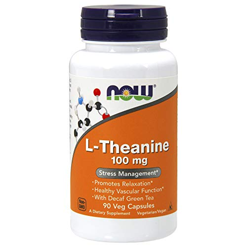 Now Foods L-Theanine, 90 Count (Pack of 1)