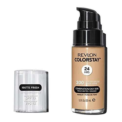 Rv Base Clst Pump Comb/Oily Skin Golden Beige, Revlon