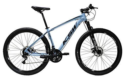 Bicicleta Aro 29 Ksw Alumínio Câmbios Shimano 21 Marchas (Azul Claro, 17)