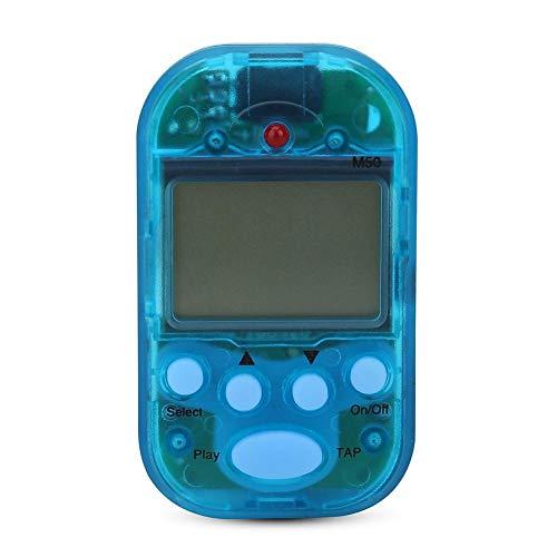 Weiyirot Mini metrônomo fácil de usar, metrônomo de tempo de 5 cores, metrônomo digital LCD digital M50, para guitarra de tambor de piano para Beth (azul)