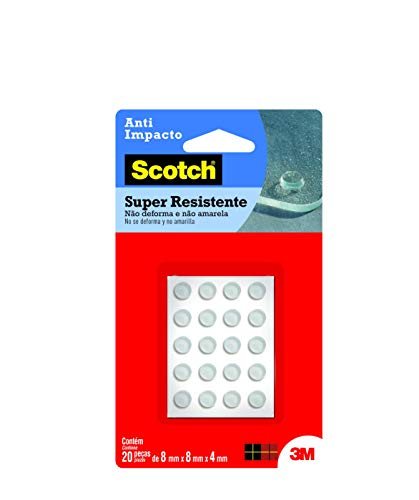 Protetor Anti-Impacto 3M Scotch Redondo Pequeno - 20 unidades