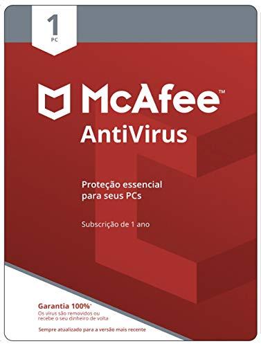 McAfee Antivírus – Programa Premiado De Proteção Contra Ameaças Digitais, Programas Não Desejados, 1 PC - Cartão - 2021 - Windows