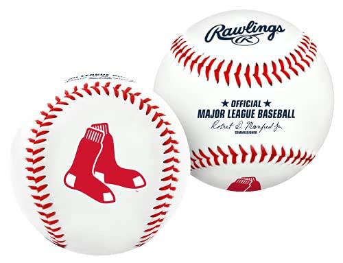Bola de Beisebol com logotipo do time Boston Red Sox da MLB, oficial, branco